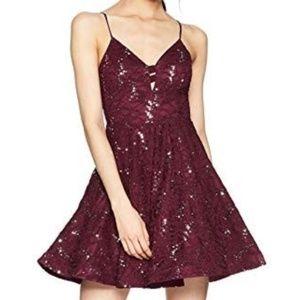 Speechless Burgundy Mini Dress